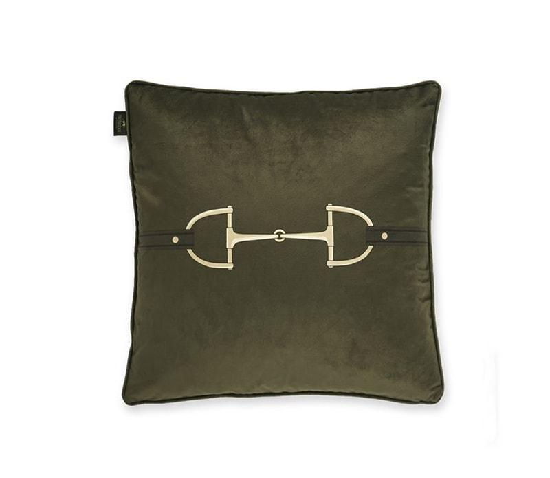 Cushion Velvet Snaffle Bit - Olive