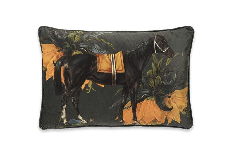 Cushion Les Fleur - Orange/Huntinggren