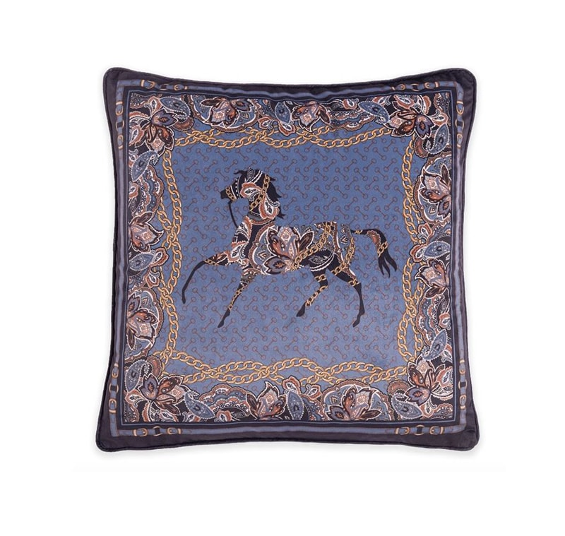 Cushion Arabic Horse - Navy