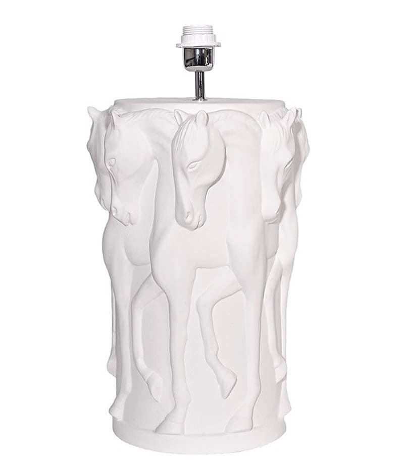 Adamsbro Lamp Stand Dancing Horses - White