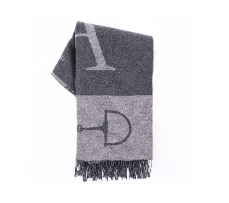 Cashmere/Merino Blanket - Grey