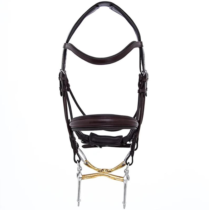 Double bridle Sandro - Brown