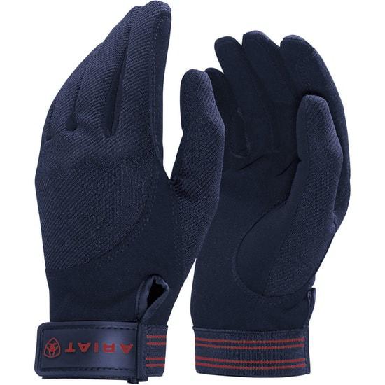 Marinblå Tek Grip handske från Ariat Hogsta Ridsport.
