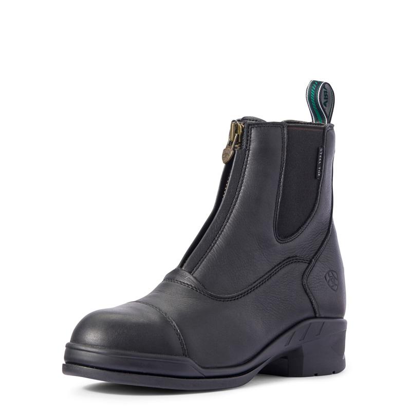 Heritage IV Zip Steel Toe - Black