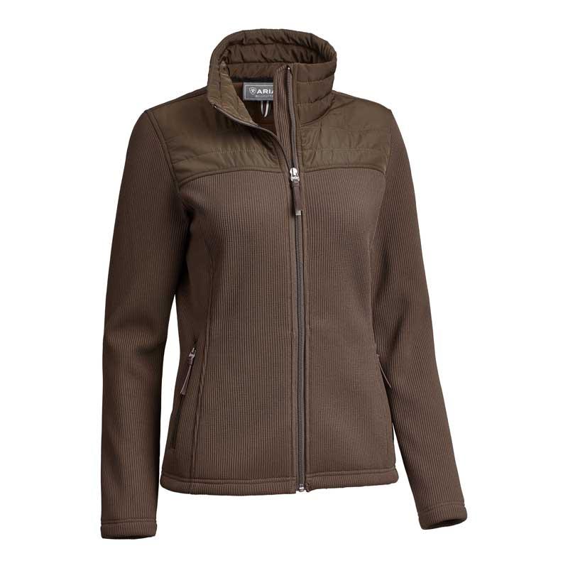 Kalispell Full Zip Sweater - Braun