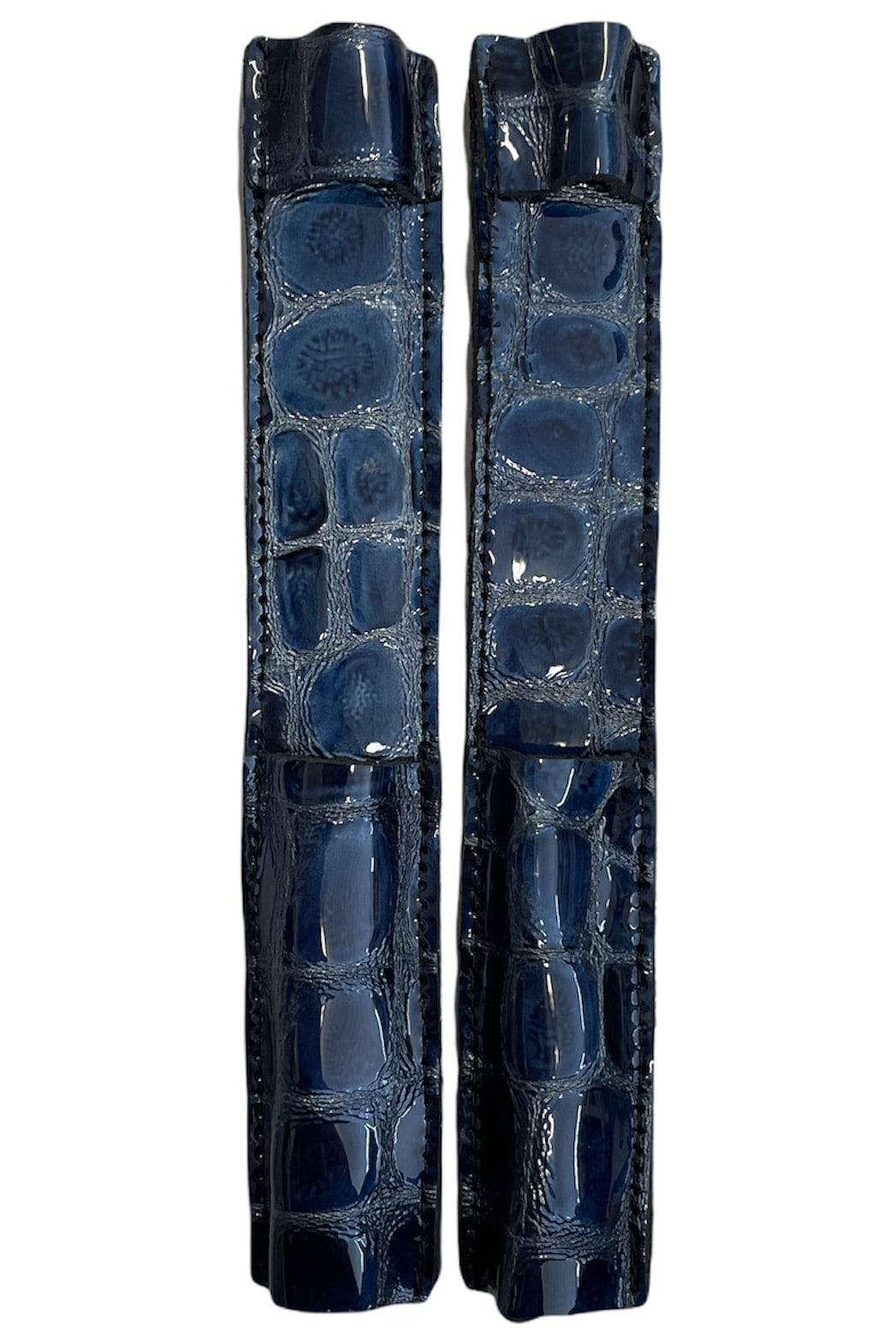 Celeris Spur Protectors - Patent Blue Croc