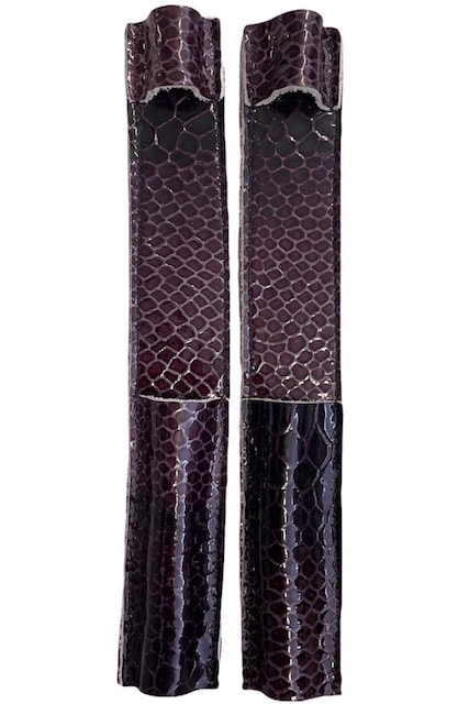 Celeris Spur Protectors - Patent Purple Croc
