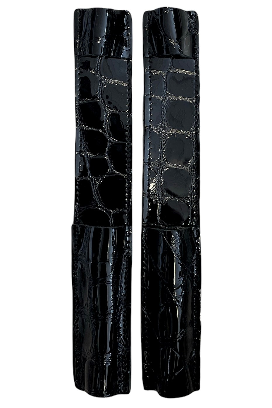 Celeris Spur Protectors - Patent Black Croc