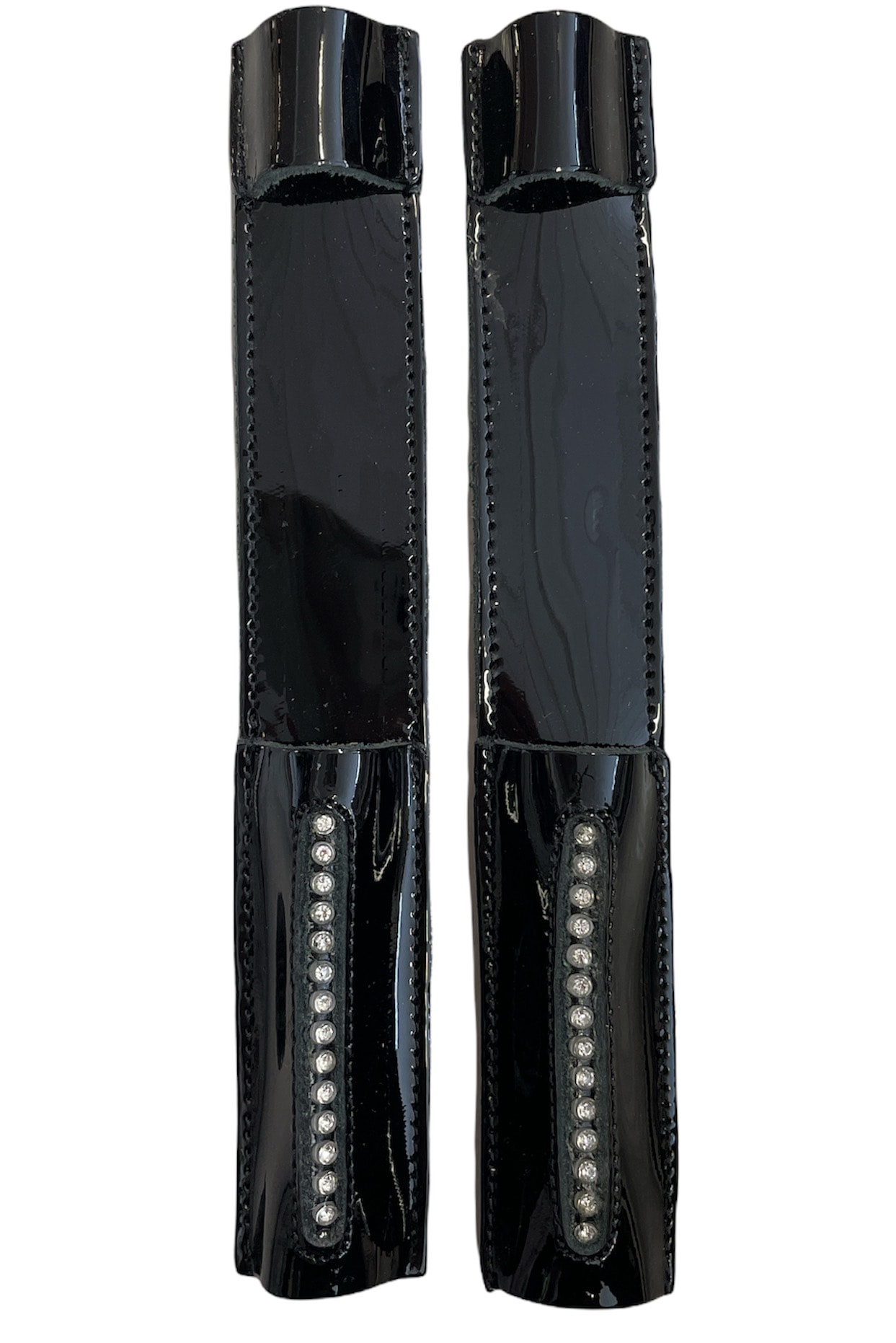 Celeris Spur Protectors - Patent Black with Diamant