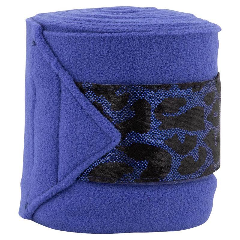 Polo bandage Leopard print - Blue