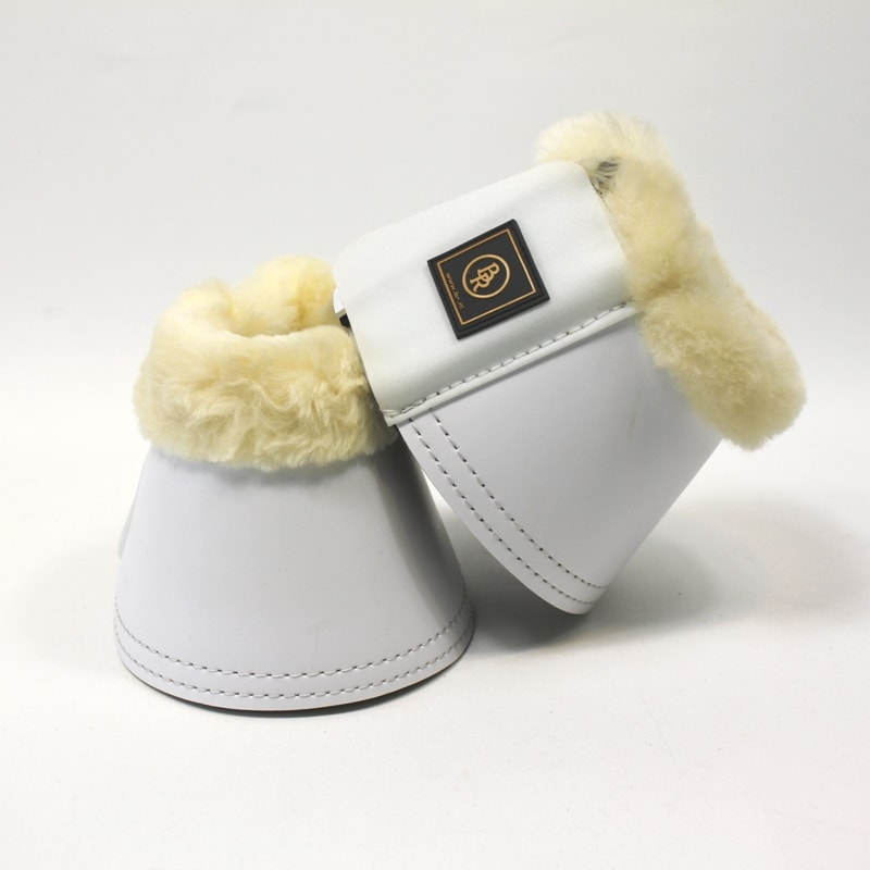 BR Over Reach Boots with sheepskin - White