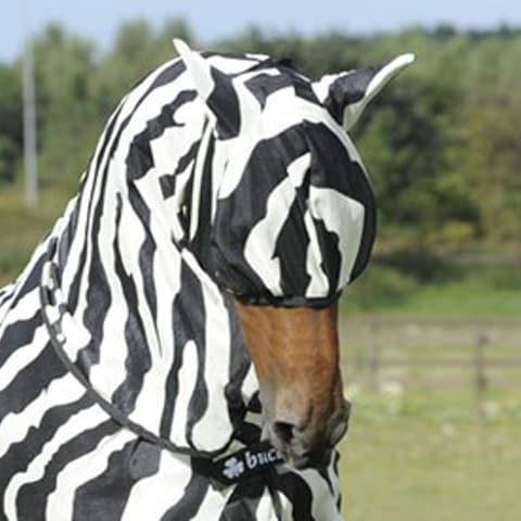 Buzz-Off Fly Mask Zebra