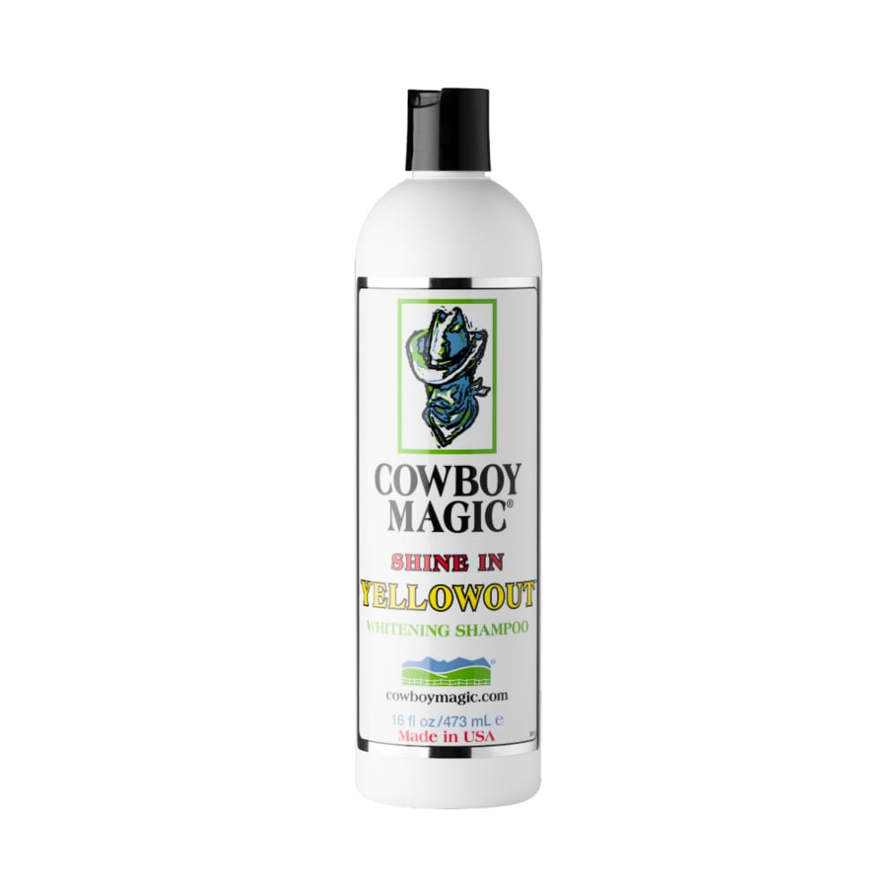 Yellowout Shampoo från Cowboy Magic. Hogsta Ridsport