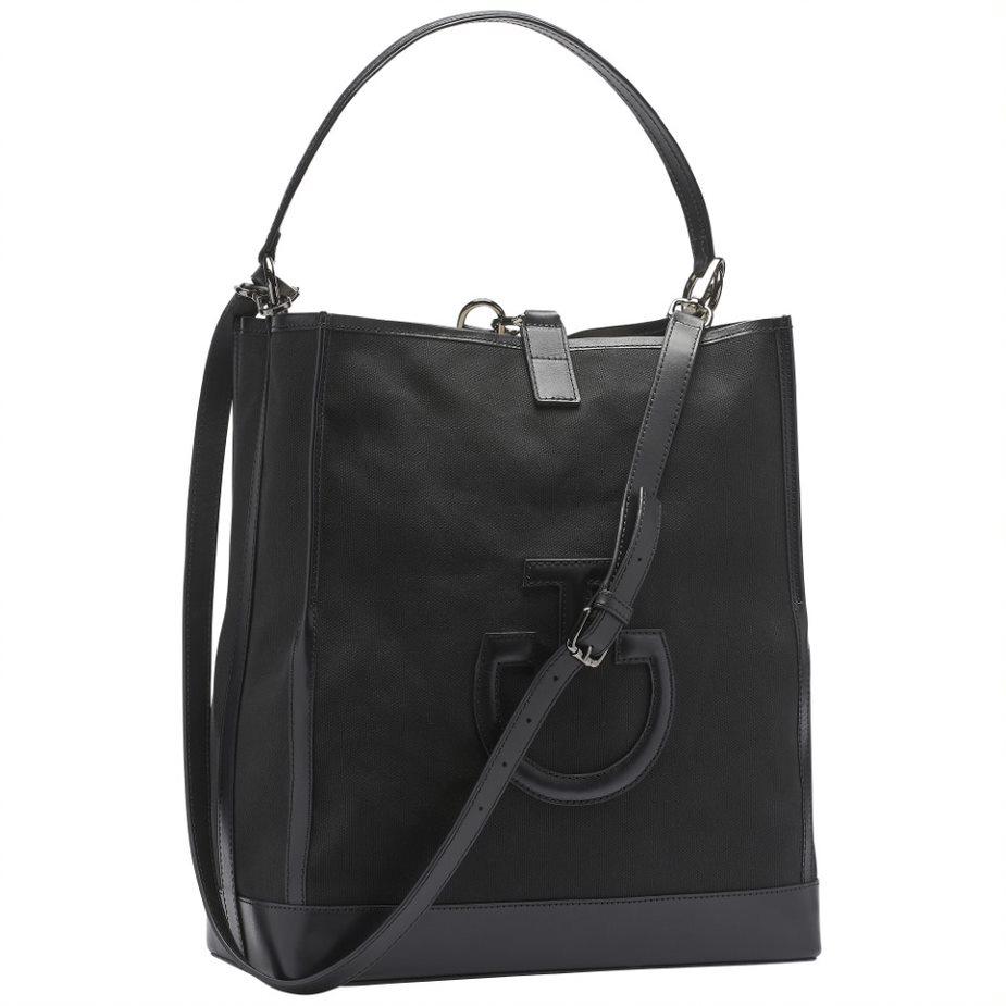 Canvas Shoulder Bag - Svart