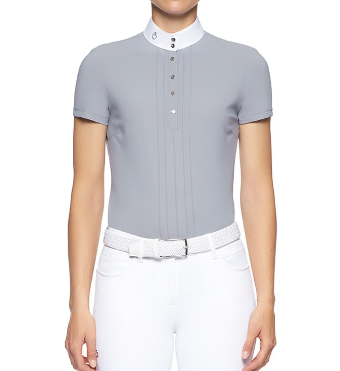 Grå tävlingsskjorta från Cavallerai Toscana. Hogsta Ridsport.