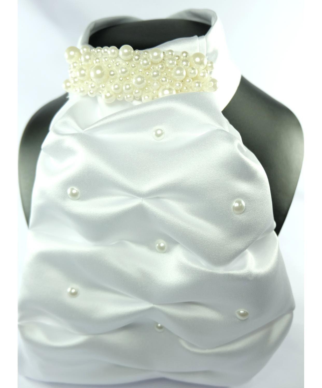 Stock tie Contessa with pearl neck
