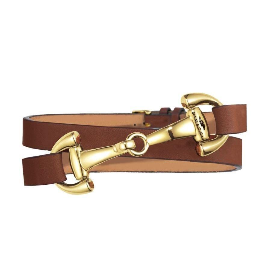Bracelet Ingrids Favorit - Cognac/Gold