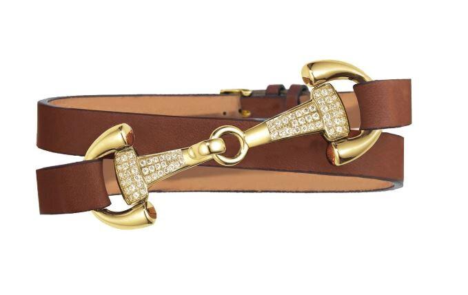 Bracelet Ingrids Favorit - Cognac/Gold/Zirconia