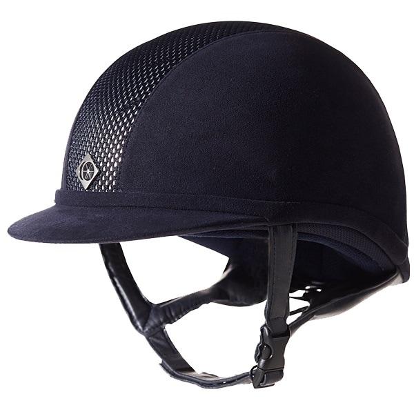 Ayr8 Riding helmet - Navy/Silver