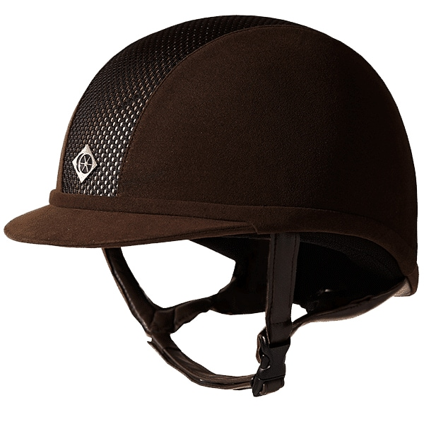 Ayr8 Plus Riding helmet - Brown/Gold