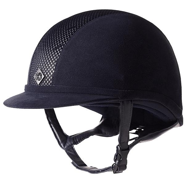 Ayr8 Plus Riding helmet - Navy/Silver