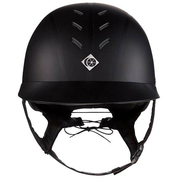 Myps Round Riding helmet - Black