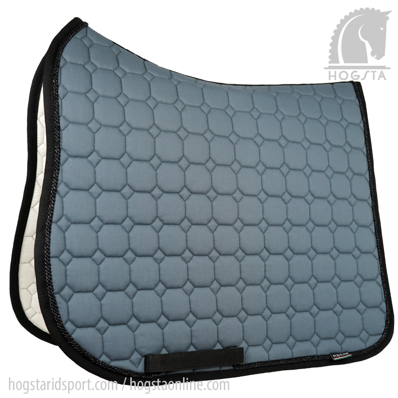 Octagon Dressage saddle pad - Grey/black/glitter