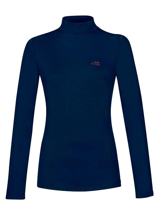 Drilla long sleeve polo - Blue