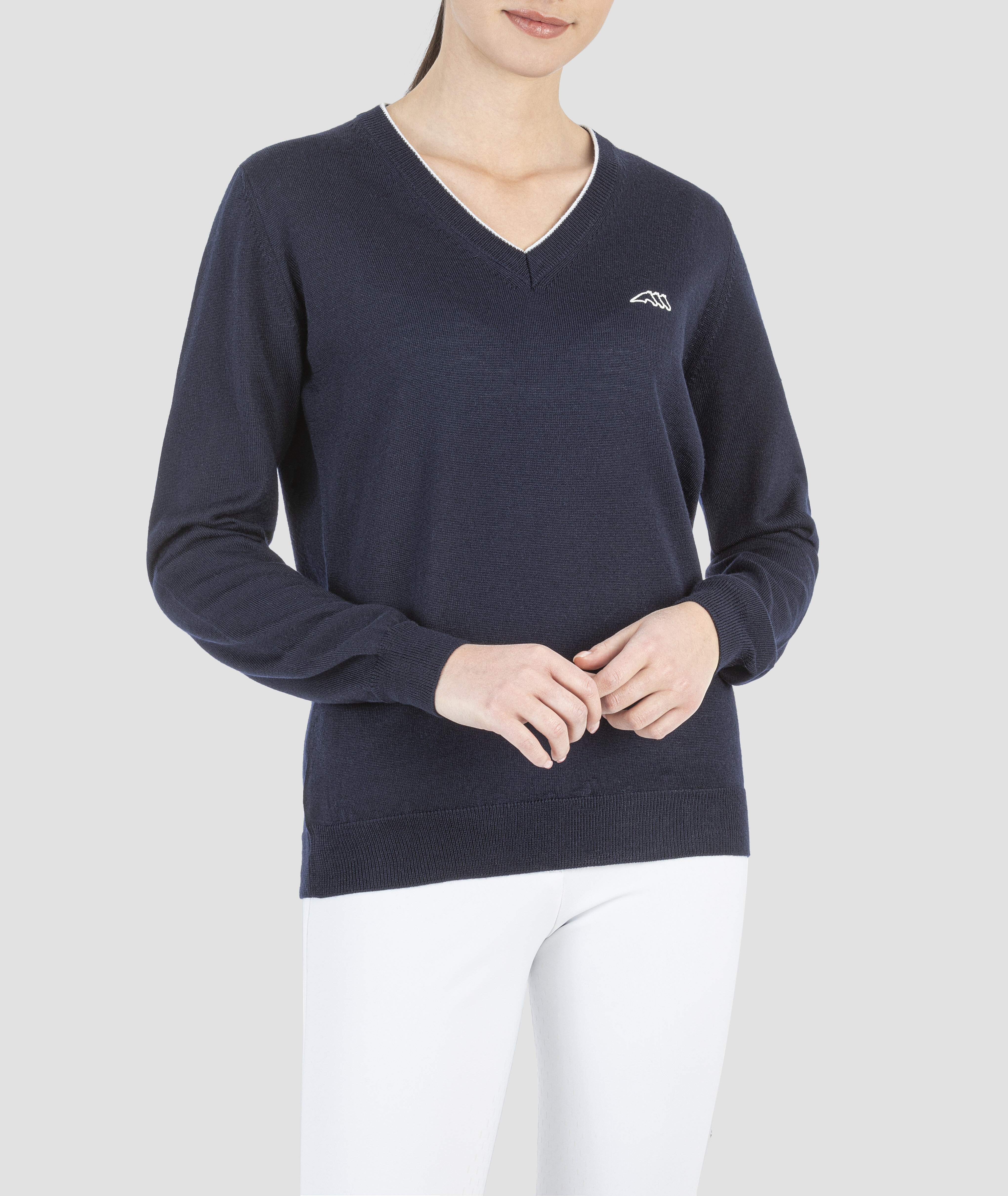 Ceklic Ladies Knitted Pullover - Navy
