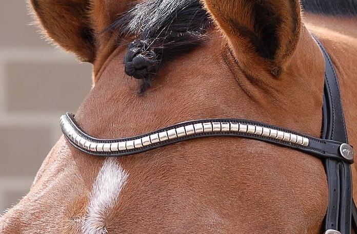 """V shape browband """"Steel clincher"""""""