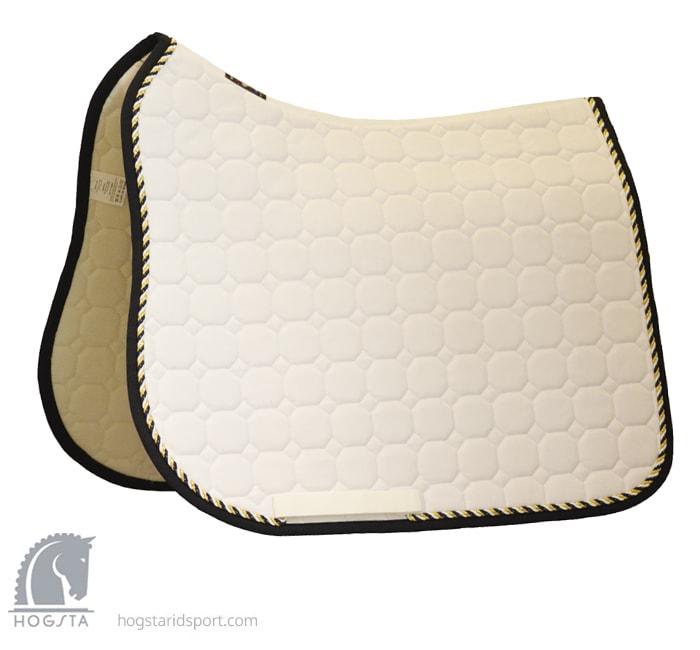 Octagon Dressage saddle pad - White G/V/M