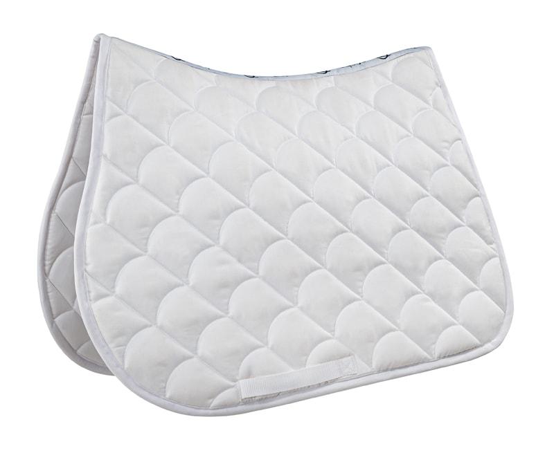 Dressage saddle pad - White