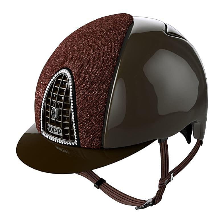 KEP hjälm Cromo Polish brun. Hogsta Ridsport