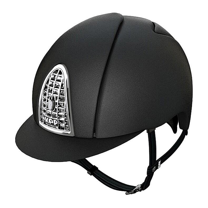 KEP hjälm Cromo Mica Chrome färg svart. Hogsta Ridsport.