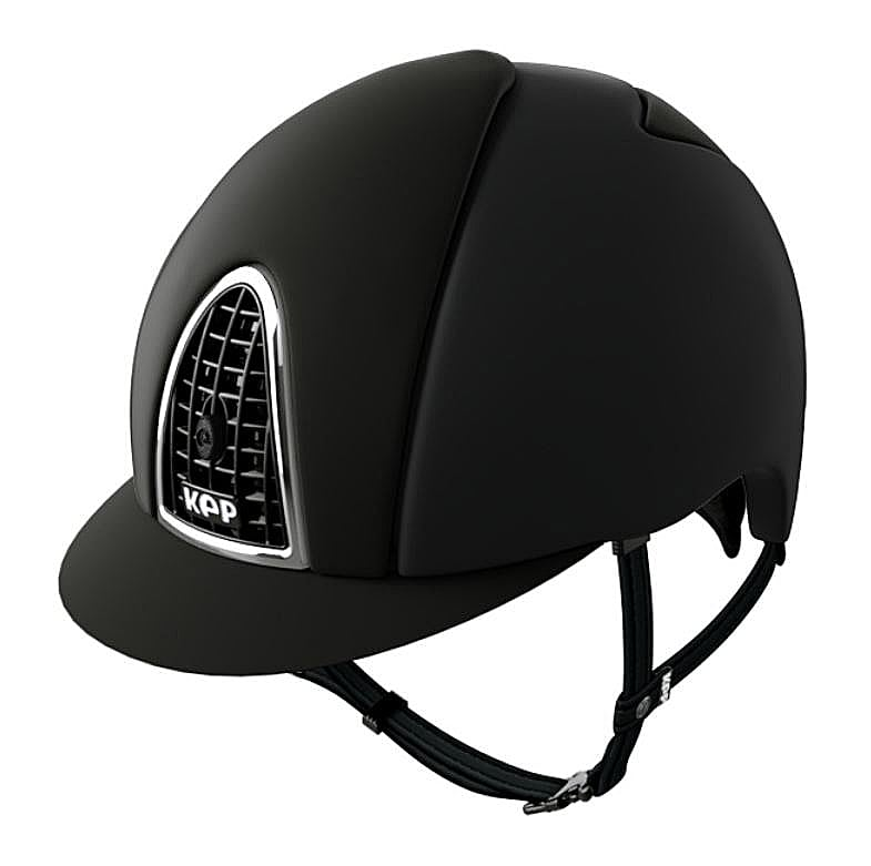 KEP hjälm Cromo Textile i svart. Hogsta Ridsport.