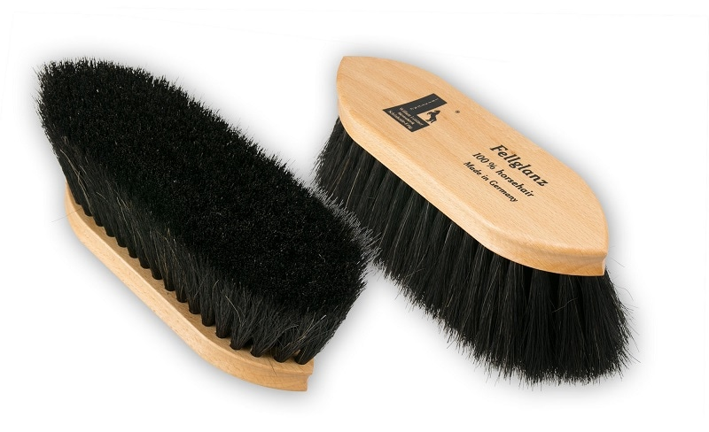 High gloss grooming brush, pure horsehair