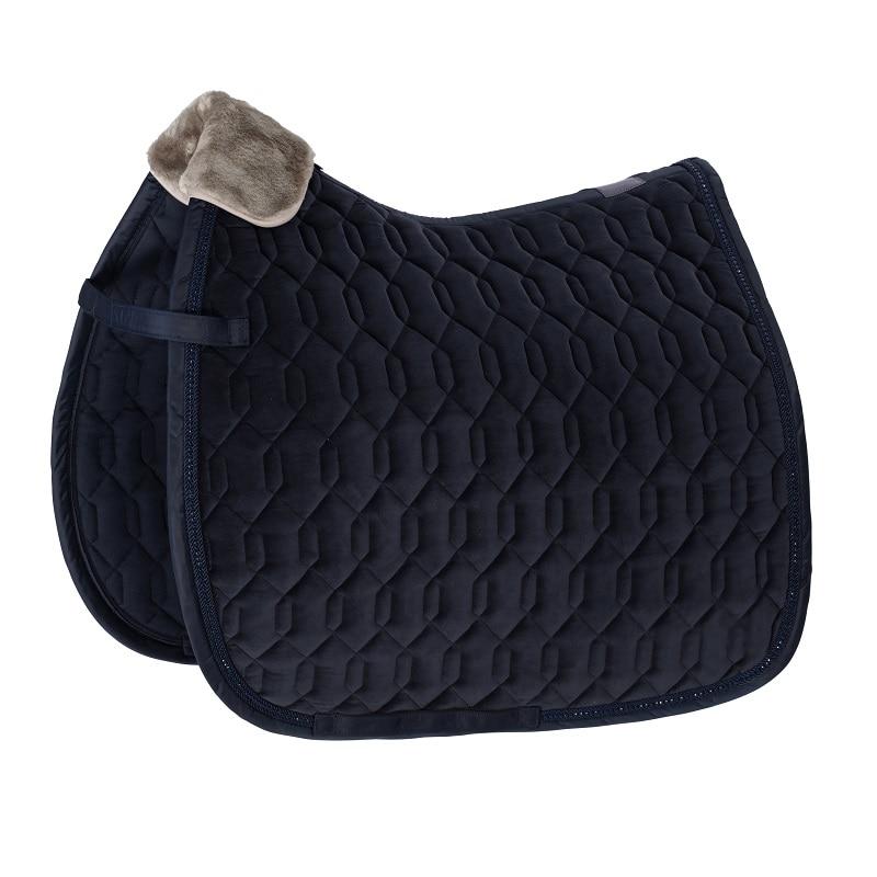 Dressage saddle pad Velvet - Navy
