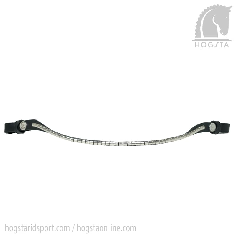 Smalt, svart läderpannband med silverklinker från Finesse. Hogsta Ridsport.