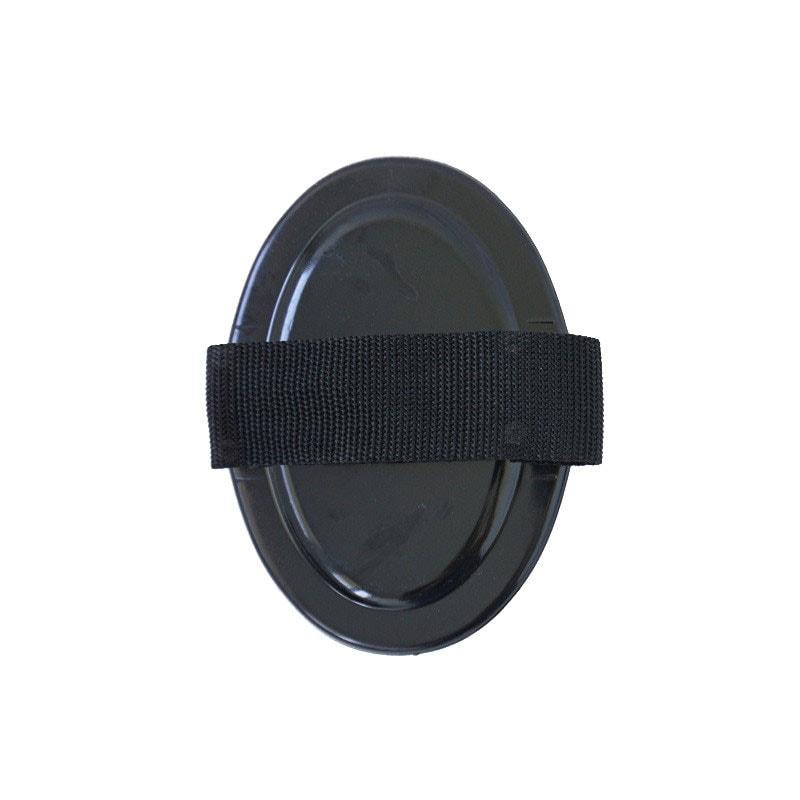 Curry comb in plastic - Black