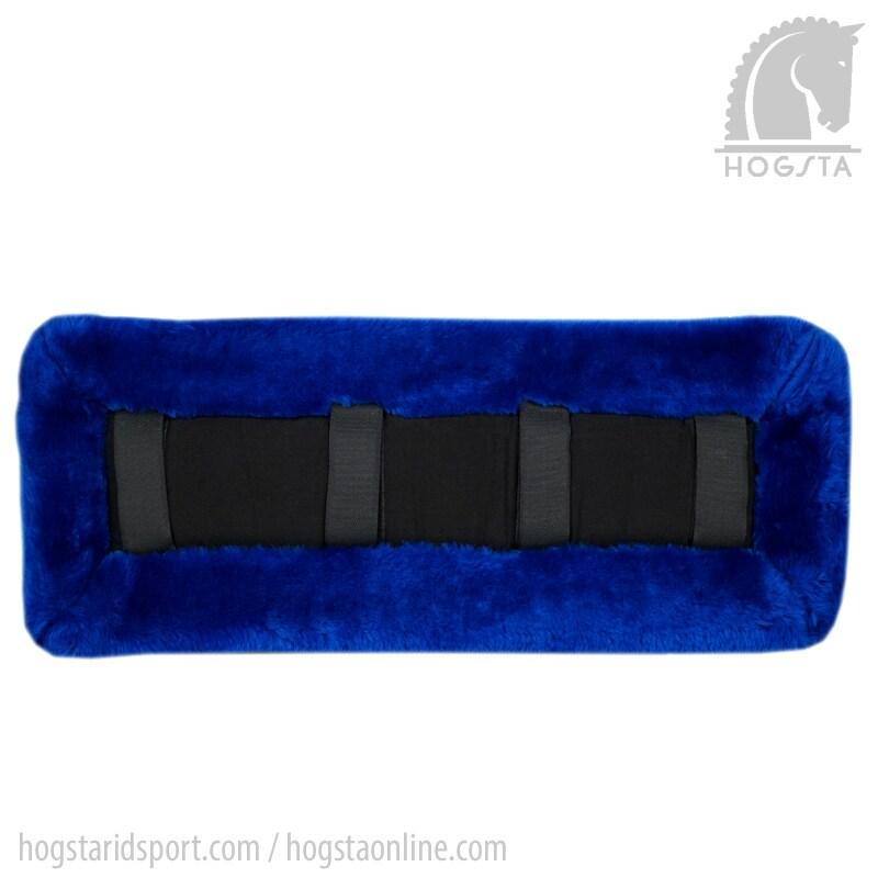 Selunderlägg i tjock akrylpäls från Globus blå. Hogsta Ridsport.
