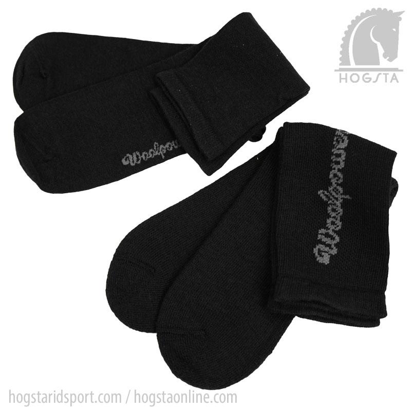 Woolpower 2-pack Liner Sock + Logo Socka 400 - Svart