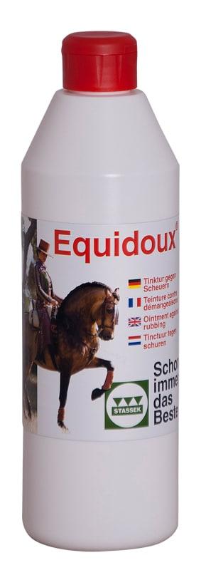 Equidoux-tinktur mot man och svansklåda från Stassek Hogsta Ridsport.