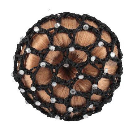 Knutnät med strass - svart