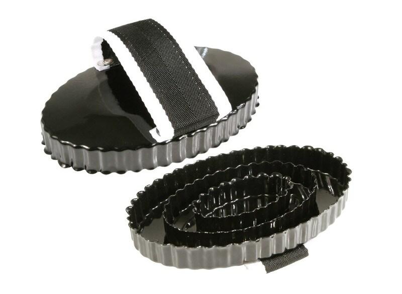 Metal curry comb - Black