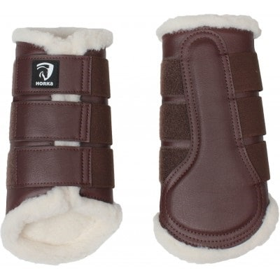 Brushing boots with faux fur lining - Brown
