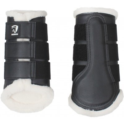 Brushing boots with faux fur lining - Black