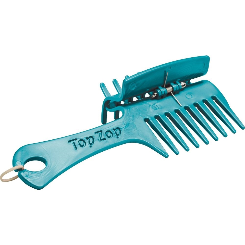 Top Zop plaiting comb with clip - Blue