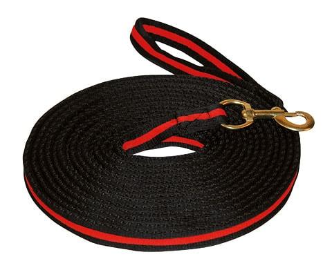 Lunge line - Black/Red