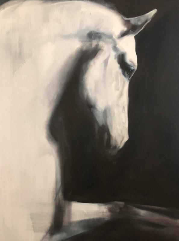 Hästtavla Mirror Right look från Katja Hannula. Hogsta Ridsport.