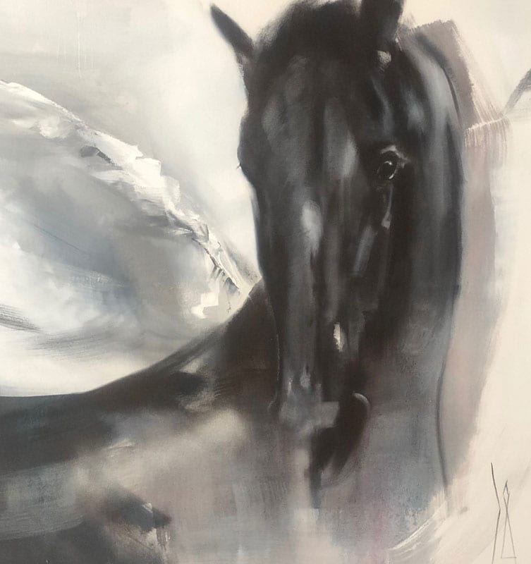 Horse Painting - Heart knows the way